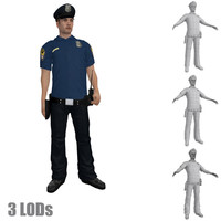 3ds max rigged police officer s