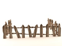 3d model toon fence