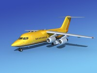 3d model turbines bae 146 aircraft
