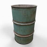 Barrel Drum Old Green