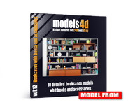 vol 12 10 bookcases 3d c4d