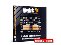 vol 9 10 bookcases 3d c4d