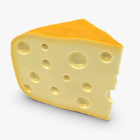 3d model gouda cheese yellow