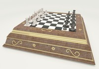 classic chess set 3d max