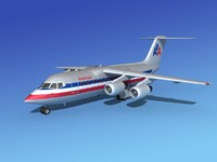 turbines bae airliner 3d model