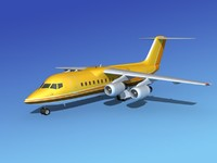 turbines bae aircraft 3d model