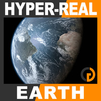 hyper-real dynamic earth shader 3d model