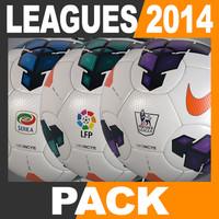 2013 2014 european leagues 3d model