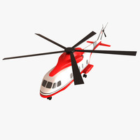 cartoon toy helicopter 3d max