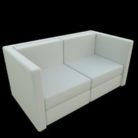 3d couch sofa uv 2 model