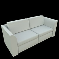 3d couch sofa uv
