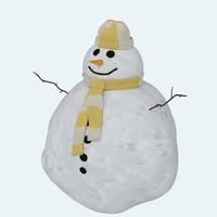 3d snow snowman model