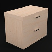 bedside table 2 drawers 3d max