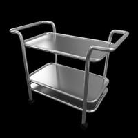 asset food trolley beverage 3d 3ds