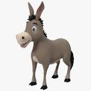 cartoon donkey 3D models
