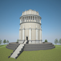 classical tower 3d max