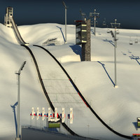3d ski jumping hill model