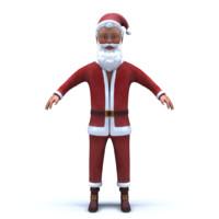young santa claus 3d obj