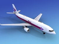 3d dxf airline airbus a300