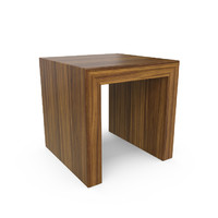 3d hudson contemporary stool end table model