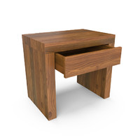 3d model hudson french walnut end table