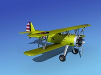 3d pt-17 stearman trainers model