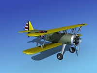 pt-17 stearman trainers 3ds