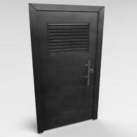 3d metal door model