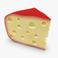 3d model gouda cheese red