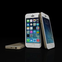 3d apple iphone 5s gold model