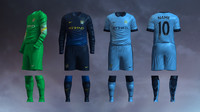 3d model soccer jersey manchester city