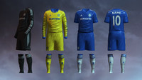 soccer jersey chelsea fc 3d max