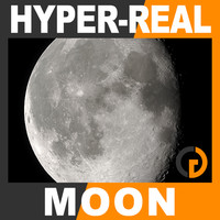 hyper-real dynamic moon shader 3d max