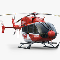 3d model eurocopter ec 145 rescue helicopter