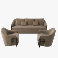 3d baker hermano sofa chair model