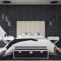 3d elegant bedroom furniture model