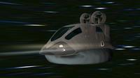 3d space hovercraft model
