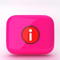 3d model of icon inverted exclamation