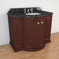 3d clarence devon bathroom furniture model