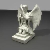 3d stone angel model