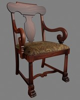 3d american empire chair model