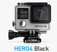 camera gopro hero4 black 3d c4d