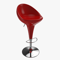 3d bar seat steel plastic model
