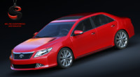 toyota camry vii 3d model