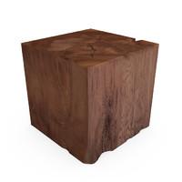 3d hudson organic teak cube