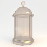 decorative bottle 3d model