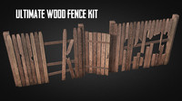 wood fence kit 3ds