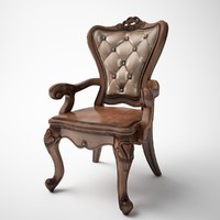 single classic leather chair