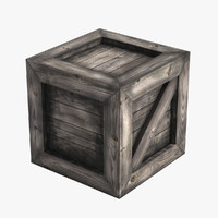 3d medieval wooden crate model