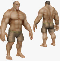 3d sculpt muscular man zbrush model